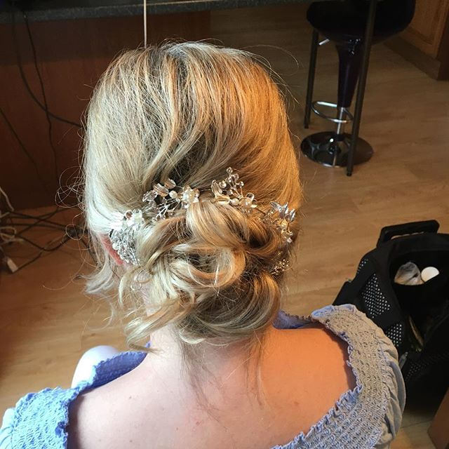 Hair up on one of my lovely clients from
