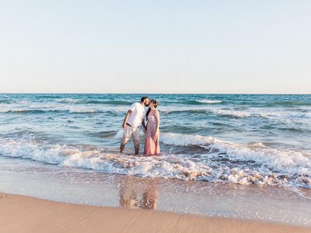 Das Aupair und der Spanier - Paarshooting am Meer