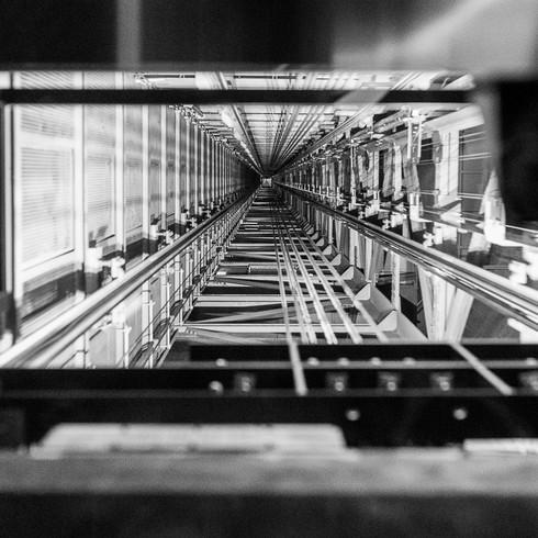 Im Lift des Fernsehturms, Berlin