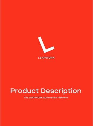 LEAPWORK Automation Platform Product Des