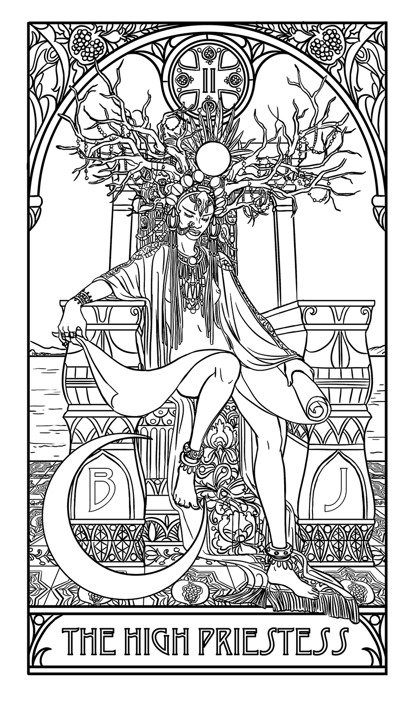 34 Tarot Card Coloring Book - Free Printable Coloring Pages