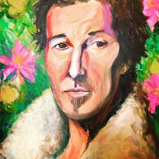 Bruce Springsteen commission: Acrylic on canvas