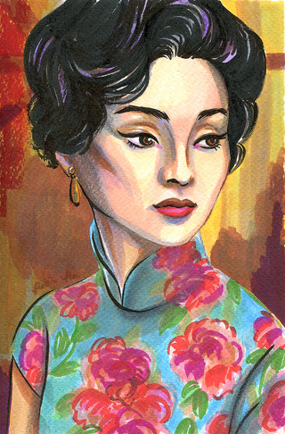 Maggie Cheung: Marker on paper