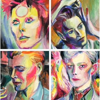 David Bowie Portraits: Acrylic on canvas