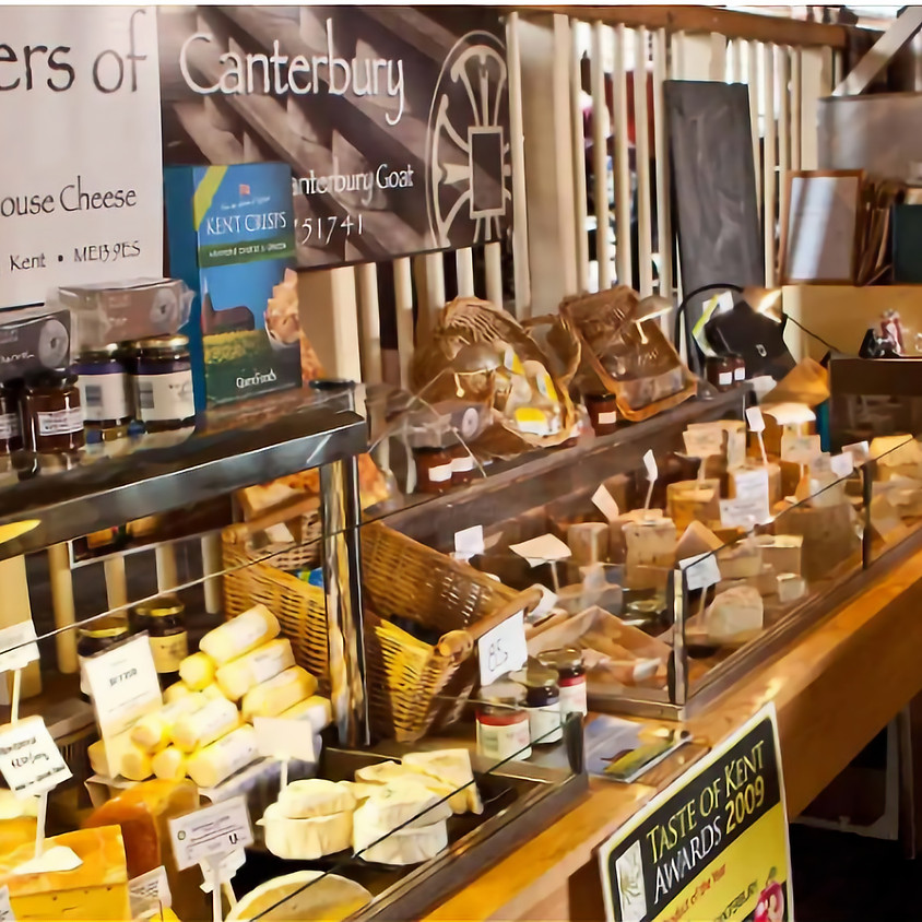 Kent cheese and Kent wine - perfect!