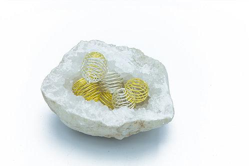 Support spirale pour pierre roulée ou brute