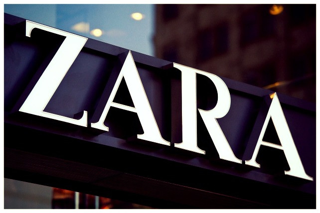 (Image/photo/disclosure) Zara: Panel with store logo