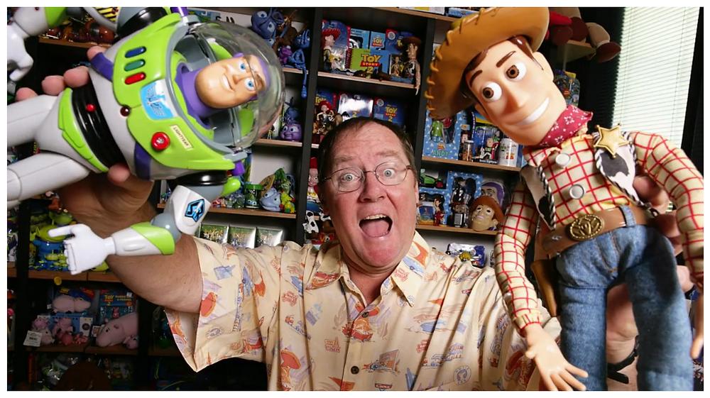 John Lasseter em sua primeira longa animada Toy Story (1995)