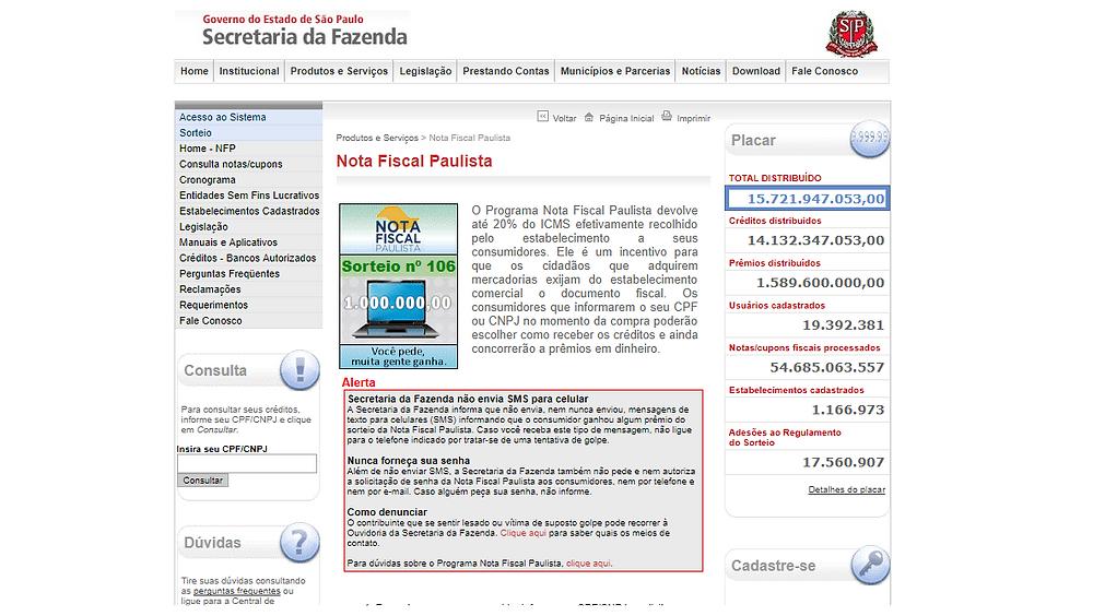 Nota Fiscal Paulista - post Lego no Startblog