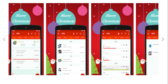 App Christmas Gift List no startblog