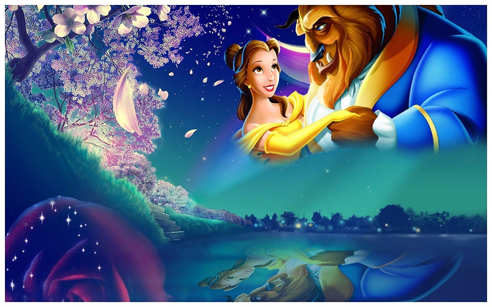 (Image:Disney/share) Wallpaper Pixar's beauty and the beast