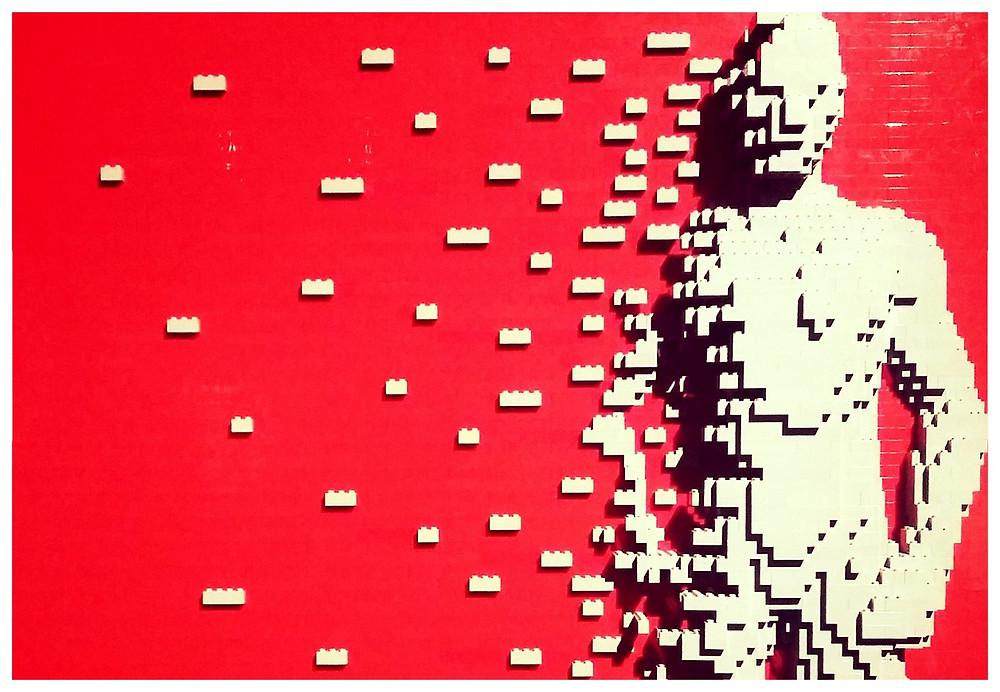 Art divulgação Nathan Sawaya  - post Lego no Startblog