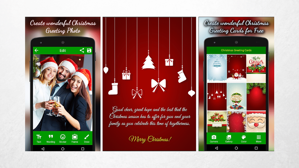 Christmas greeting cards app on startblog