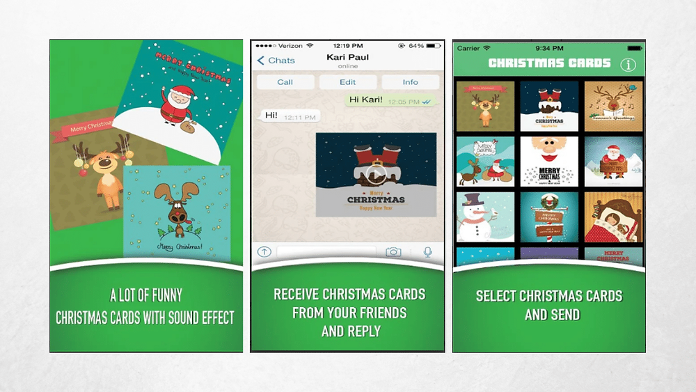Indicação do app Christmas Cards Animation no startblog
