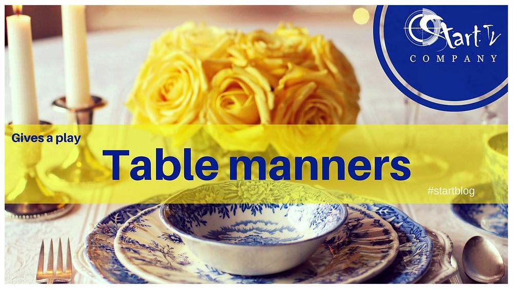Table etiquette on Startblog