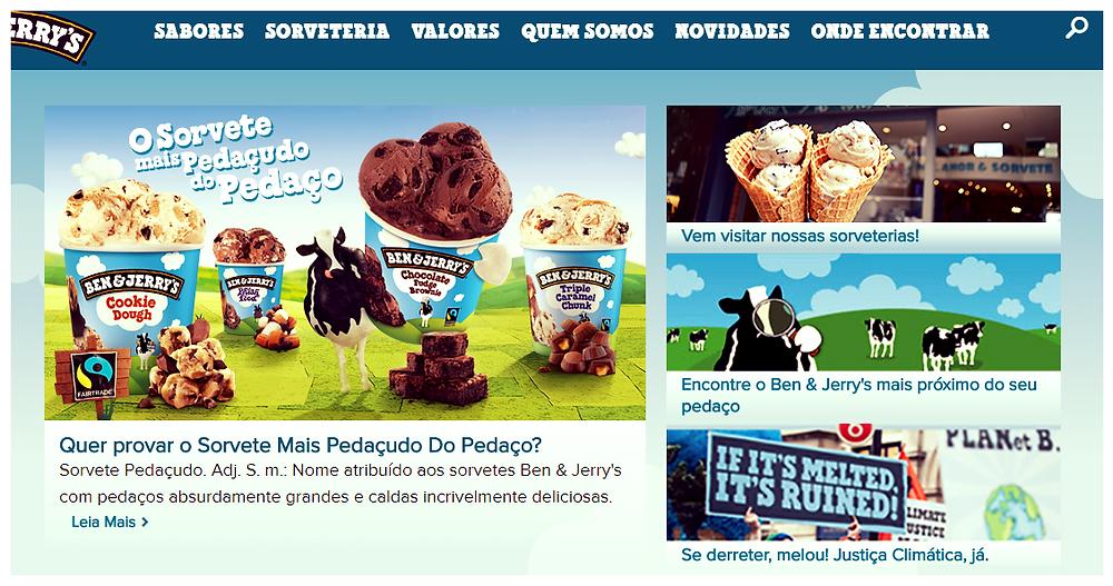 (Imagem/foto/divulgação) website: benandjerry.com.br