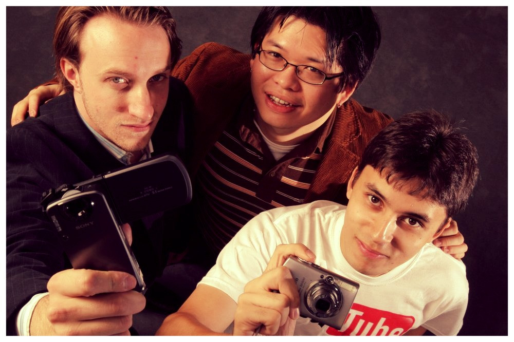 (image/photo/disclosure) Fundadores Chad Hurley, Steve Chen e Co-fundador Jawed Karim