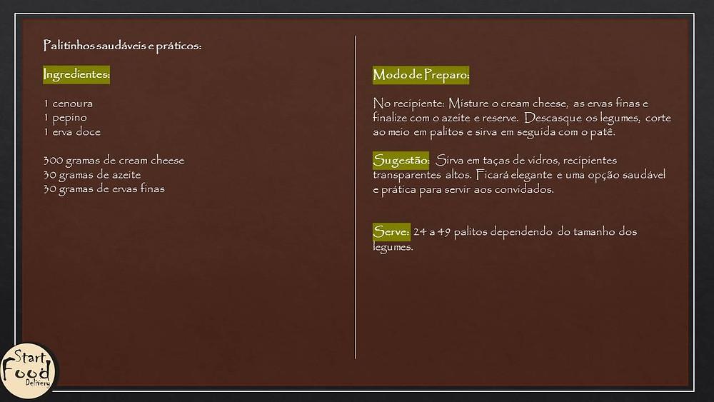 Palitinhos saudáveis para petiscos no startblog