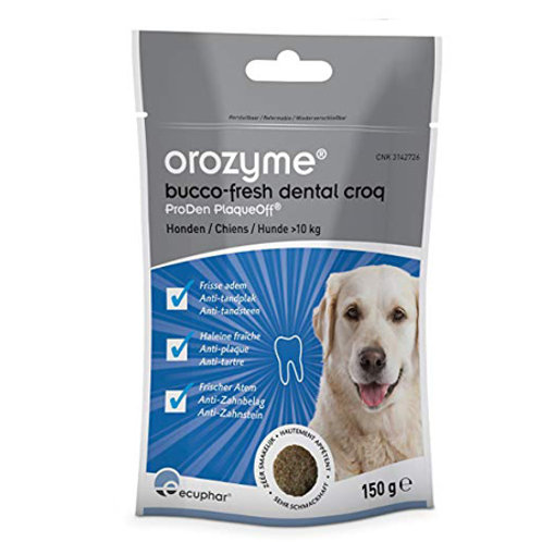 Жевательные крекеры Orozyme® Bucco-Fresh для собак >10кг. Пачка 150г