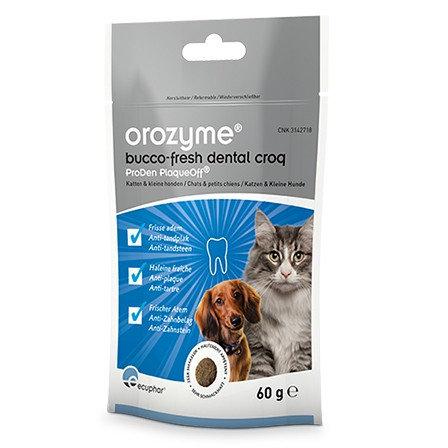 Жевательные крекеры Orozyme® Bucco-Fresh для кошек и собак < 10кг. Пачка 60г
