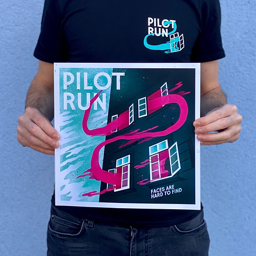 Pilot Run - Faces Are Hard To Find - Art Print