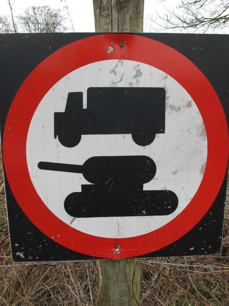 Sign outside the village of Imber