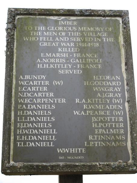Imber World War One Memorial