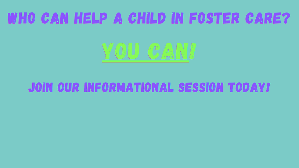 Who can help a child in foster care You