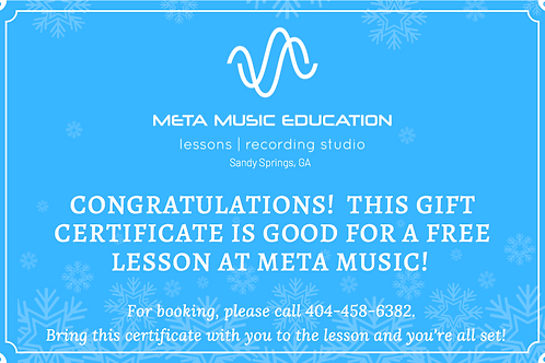 1 Lesson at Meta Music - Any Instrument
