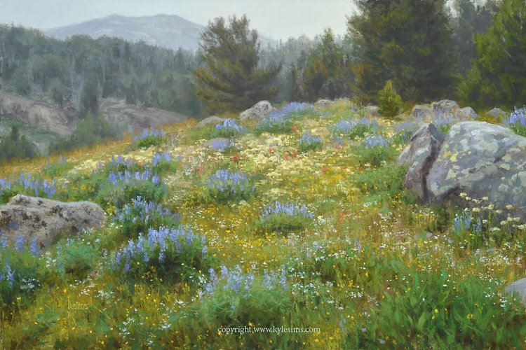 A Forest Meadow Original Painting