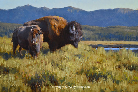 Original Bison Painting