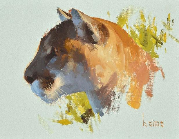Original Mountain Lion Cougar Painting