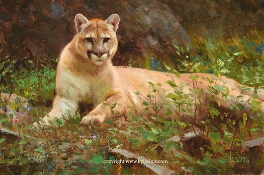 Original Cougar Painting