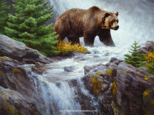 Grizzly Waters 36x48 Oil 2020 $24,000.00