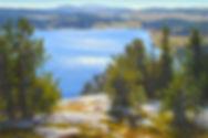 Original Mountain Lake Painting