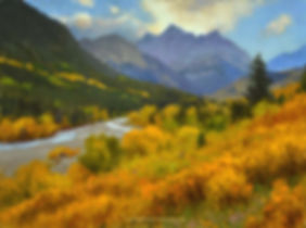 Mountain Lake original painting