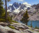 Original Mountain Lake Landscape Painting