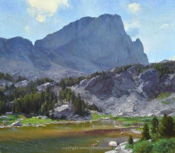 Mountain Lake original painting