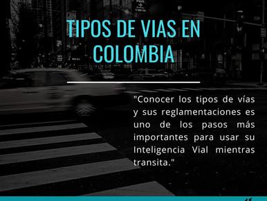 Tipos de vías en Colombia