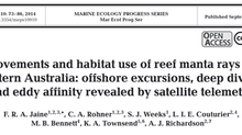 New Paper - Satellite-tracking east Australian reef manta rays