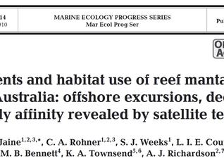 New Paper - Satellite-tracking east Australian reef manta rays