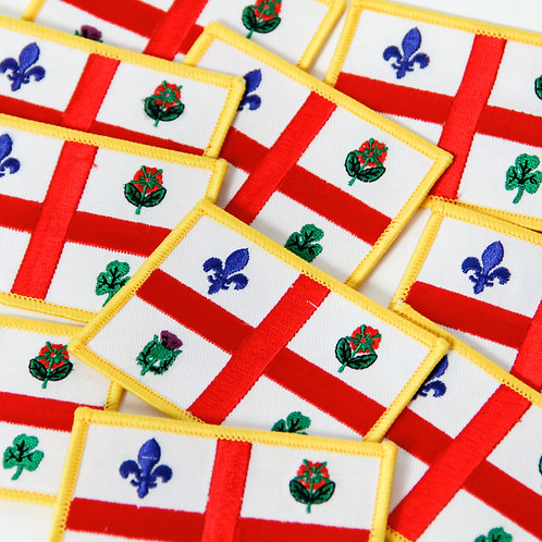Montreal flag PATCH sewn on your bag