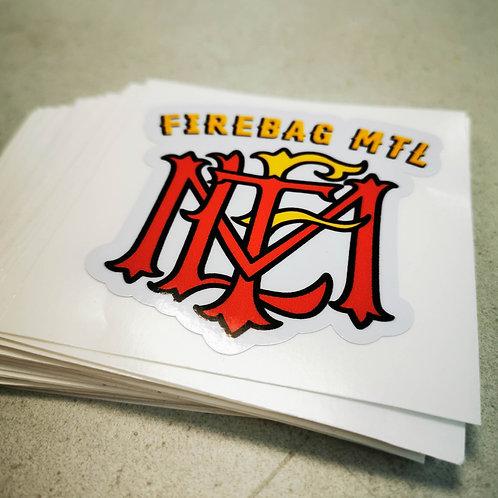 Collant vinyle FIREBAG MTL Sticker