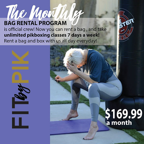Monthly Bag Rental + Unlimited  PikBoxing