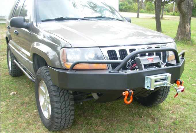 WJ Front Bumper w/PreRunner Light Bar