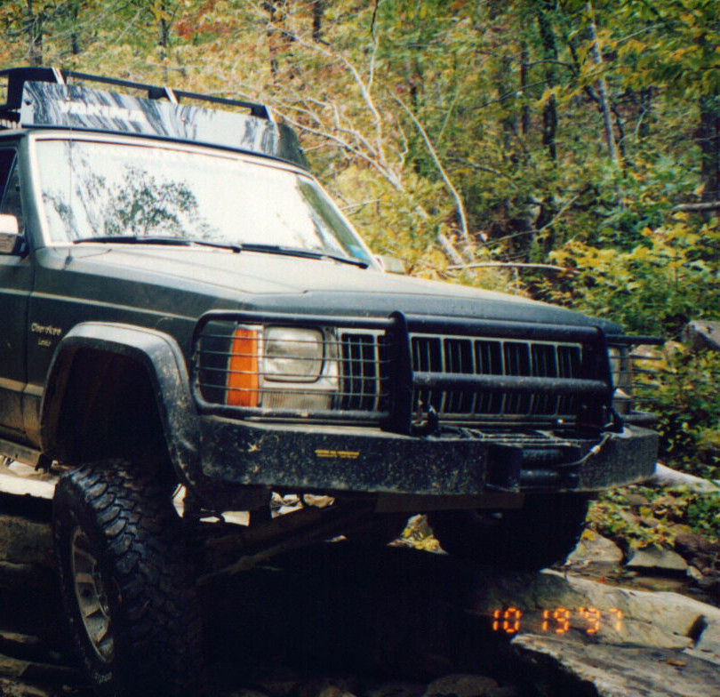 Original XJ Bumper w/Brushguard