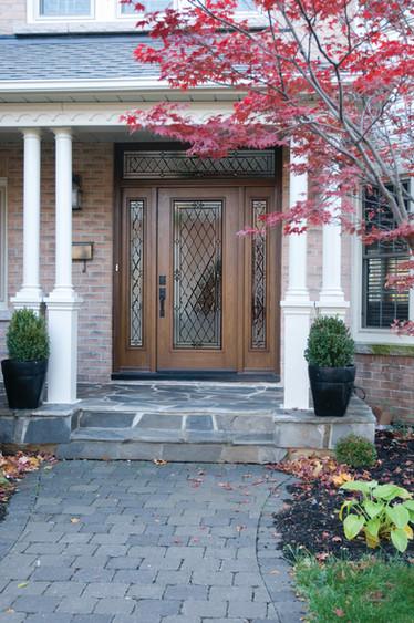 Door & 2 Sidelites with Custom Transom - Canterbury