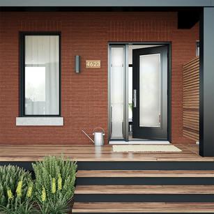 Door & 1 Custom All Glass Sidelite