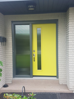 Door & 1 Custom All Glass Sidelite