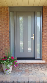Door & 2 Custom Sidelites - Sandblasted